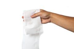 现有量藏品纸张洗手间 背景查出的白色 图库摄影