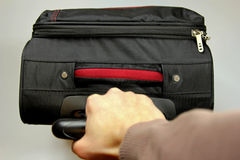 现有量运载的手提箱 免版税库存图片