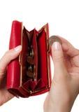 现有量钱包 免版税图库摄影
