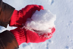现有量雪 免版税图库摄影