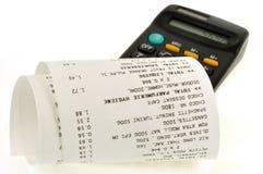 现金发票和计算器 库存例证