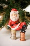 现金哀伤的圣诞老人 免版税库存照片