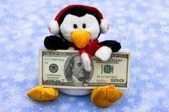 现金圣诞节寒冷 免版税库存图片