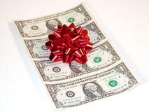 现金圣诞节 免版税库存照片