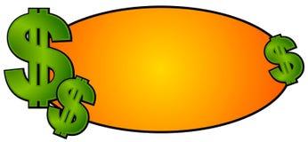 现金徽标货币签署站点万维网 库存照片