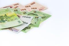 现金是泰国金钱 免版税库存照片