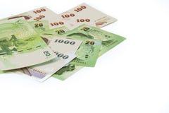 现金是泰国金钱 库存照片