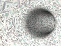 现金漏洞 免版税图库摄影
