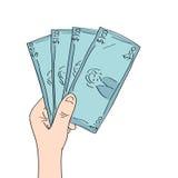 现金现有量藏品 向量例证