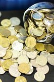 现金硬币 库存照片