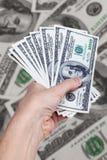 现金美国人美元 免版税库存图片