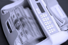 现金计数设备 库存图片