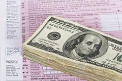 现金退款 免版税图库摄影