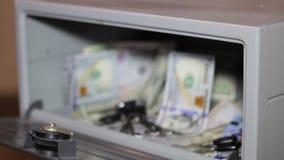 现金金钱贵重物品保险库 与堆的小住宅穹顶现金金钱 影视素材