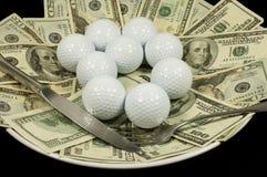 现金高尔夫球膳食 免版税库存图片