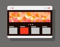 现代互联网浏览器窗口 免版税库存照片