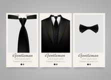 现代五颜六色的垂直的正式衣物横幅 婚礼邀请 免版税库存图片
