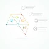 现代五颜六色的设计三角infographic与您的文本的地方 能为网络设计,企业介绍,图使用, 免版税库存照片