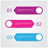 现代五颜六色的设计模板 免版税库存图片