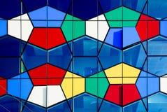 现代五颜六色的建筑学的片段 库存照片