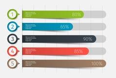 现代五颜六色的3d图,图表 图、介绍和图的模板 Infographics要素 向量 免版税库存照片