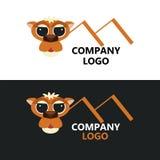现代企业商标骆驼传染媒介例证 库存图片