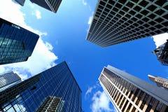 现代企业大厦在香港 免版税库存照片