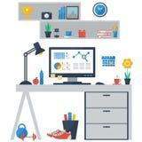 现代企业工作区的概念 免版税库存图片