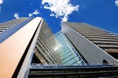 现代企业摩天大楼大厦在巴塞罗那,西班牙 免版税库存照片