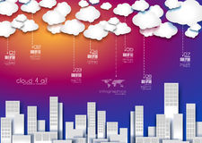 现代企业数据的Infographic布局 库存照片