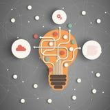 现代企业的概念 库存图片