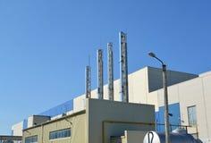现代企业的燃气锅炉室 图库摄影