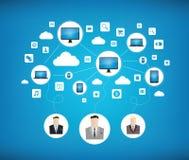 现代企业网络概念 库存照片