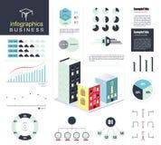 现代企业infographics元素集 也corel凹道例证向量 免版税库存图片