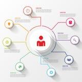 现代企业infographics圈子 也corel凹道例证向量 图库摄影