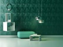 现代休息室内部装饰业。 库存图片