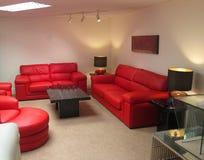 现代休息室或客厅。 免版税库存图片