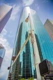 现代休斯敦玻璃摩天大楼 免版税库存图片