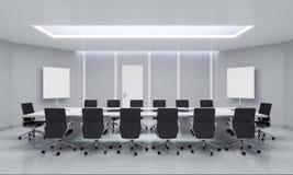 现代会议室 3d例证 免版税库存图片