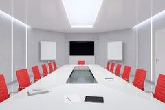 现代会议室 3d例证 库存照片