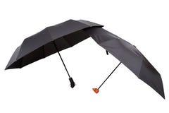 现代黑伞以展开的形式 图库摄影