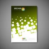 现代传染媒介摘要小册子报告设计模板 库存图片