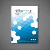 现代传染媒介摘要小册子设计模板 免版税库存图片