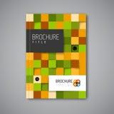 现代传染媒介摘要小册子设计模板 免版税库存照片