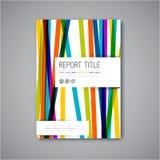 现代传染媒介摘要小册子设计模板 库存照片