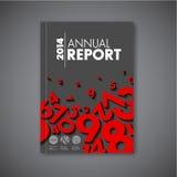 现代传染媒介摘要年终报告设计模板 免版税图库摄影