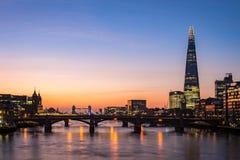 现代伦敦地平线 库存照片