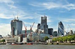 现代伦敦的建筑 免版税库存图片