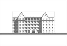 现代住房开发海拔 库存图片