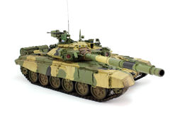 现代俄国人T-90A的模型 库存照片